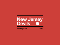 Swiss style NHL signs: New Jersey Devils