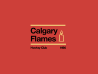 Swiss style NHL signs: Calgary Flames