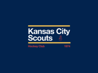 Swiss style NHL signs: Kansas City Scouts