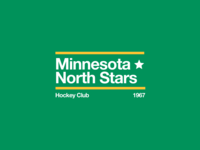 Swiss style NHL signs: Minnesota North Stars