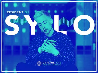 Offline Summit - Resident DJ SYLO logos color two poster design dj conference summit offline sylo