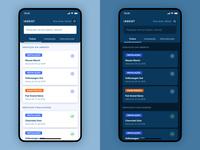 Fleet Servicing App - Light & Dark UI Kit