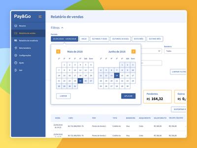 Calendar Filter - Payment Gateway Application
