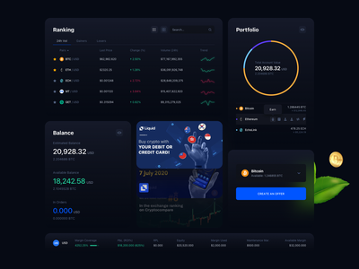 Liquid Dashboard Design trade dashboard chart payment wallet crypto app web platform product ux ui minimalism
