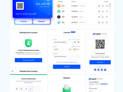 Liquid Pay sell buy crypto payment product ux minimalism ui