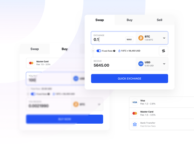 Liquid - Quick Exchange card crypto sell buy payment product app minimalism ui