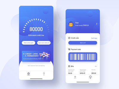 Interface For Finance design ux ui app