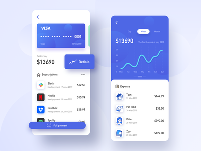 Interface For Finance 2 credit finance design app ux ui