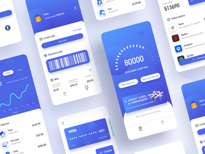 Financial Interface Series financial finance app design ux ui