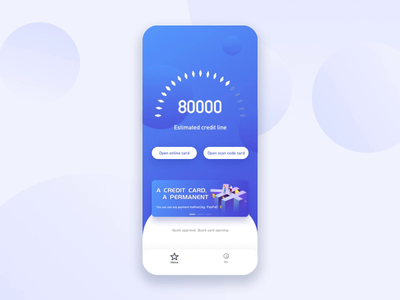 Credit app animation design