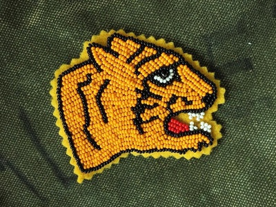 Tiger Head Beaded Patch