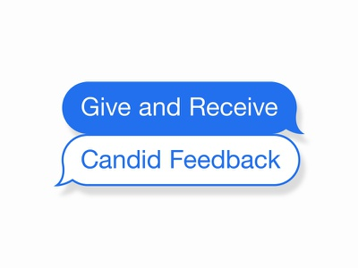 Give and Receive Candid Feedback imessage chat bubbles feedback candid feedback sticker illustration stickers