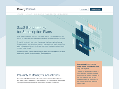Recurly Research: SaaS Benchmarks saas subscriptions illustration design data