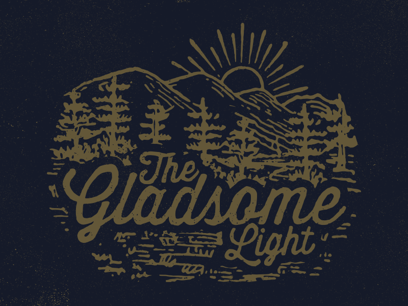 Gladsome Light Mtns shirt mountains trees sun light band