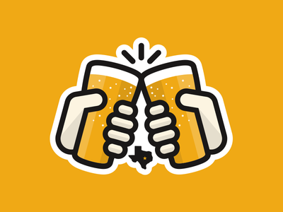 Cheers Yall cheers beer texas hands pint sticker logo