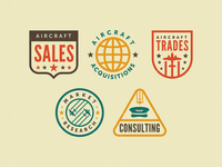 aircraft service Icons