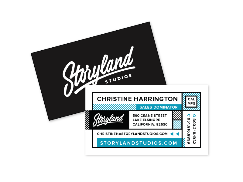 Storyland Collateral  storyland business card letter head stationary