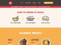 Michi menu