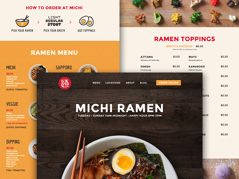 Michi ramen site launch
