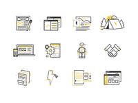Web & Brand Process Icons