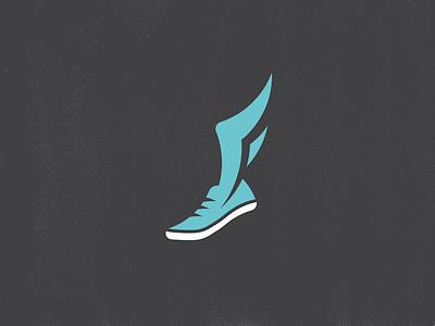 F Wing Track Shoe f wing logo sports track shoe branding