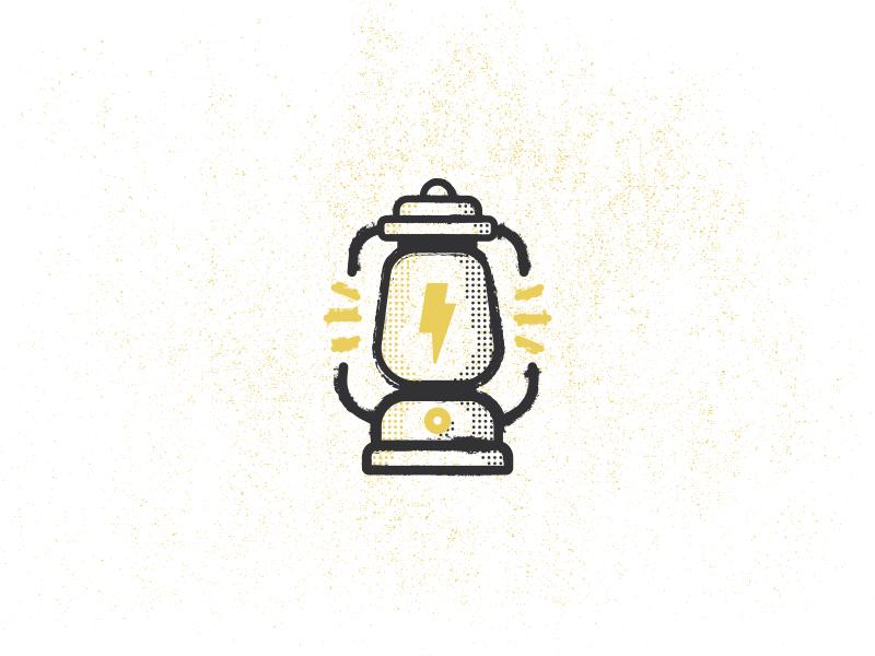 Random Lantern lantern lightning icon camping light