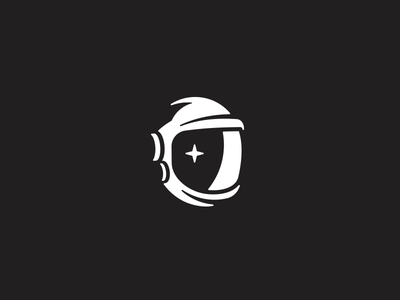 Negative Space Helmet icon brand illustration logo helmet space