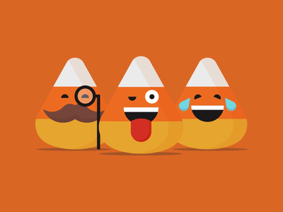 Candy Corn Emojis mustache icon emoticon smile emoji candy halloween candy corn