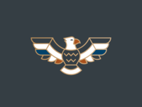 Eagz american badge logo bird hawk eagle