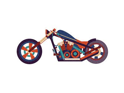 The motorcycleI llustration design llustration