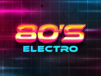 80s Text Effect
