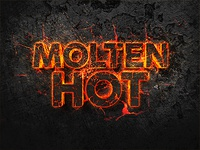 Molten Hot 3D Text Effect lava sparks typography template psd photoshop fire effect text 3d