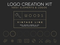 Logo Creation Kit - 1000+ Elements vintage retro elements vector set badge icon kit creation logo