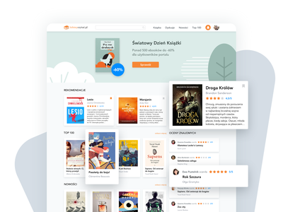 Lubimyczytac.pl Redesign web redesign ux ui recommendations website rating reading main page books