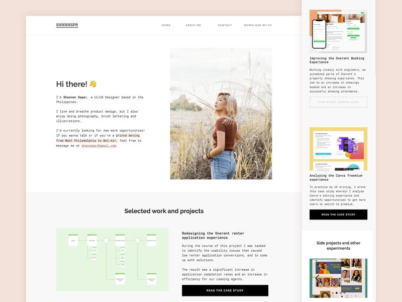 Personal Website v2.0 webflow ui design minimalist portfolio website portfolio site personal website portfolio