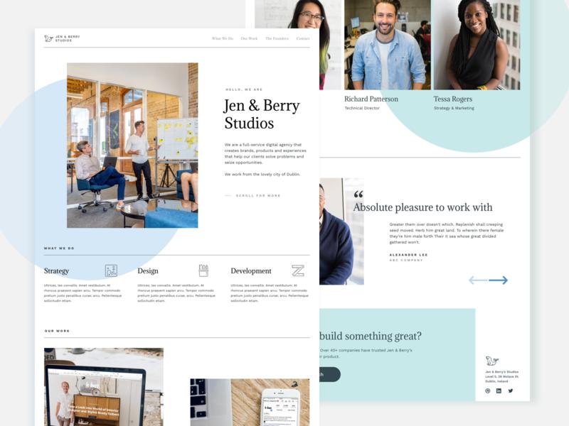 Studio Website Design Exploration clean minimalism minimalistic minimalist ui agency website design website studio