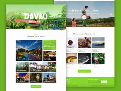 Davao City Tourism Website ui design tourism davao