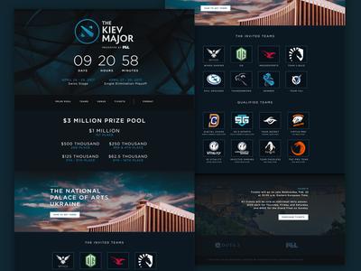 Kiev Major Website Concept e-sports tournament dota ui design