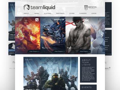 Team Liquid Redesign Concept ui design team liquid e-sports esports