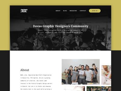 DGDC Website (WIP) dgdc community davao