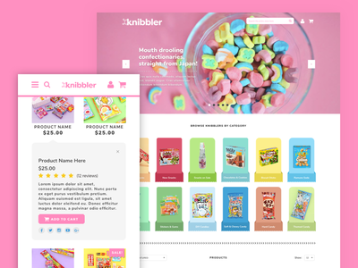 Knibbler Website japanese website ui design design candy japanese responsive