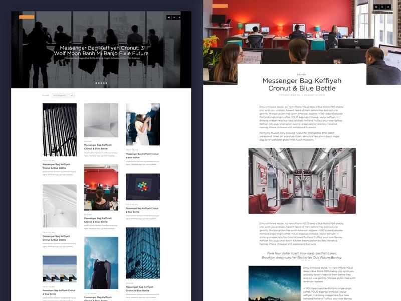 Blog Design Concept ui ui design concept blog