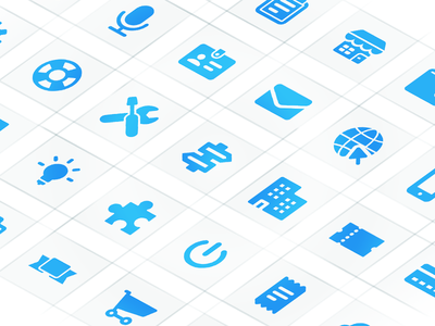 Meetinghand Icons grid icon design icon
