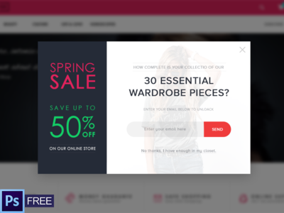 Web Popup for Sale