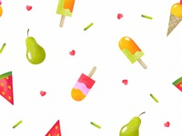 Fruits & Ice Creams Pattern