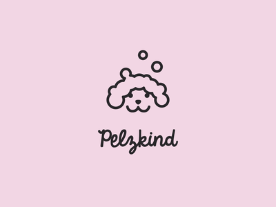 pelzkind petco petstore dogs happiness happy rose pink icon packaging dog illustration logodesign cute dog art pets logo corporate design clean branding symbol mark logo