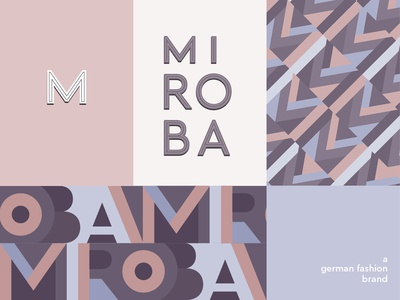 Corporate Design for a Fashion Brand: It's a Contrast Study typogaphy symbol pantone pastels clean grotesque geometric packaging mark logo pattern branding corporate design