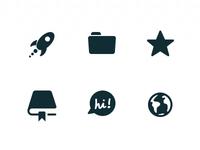 Ballistiq navigation icons