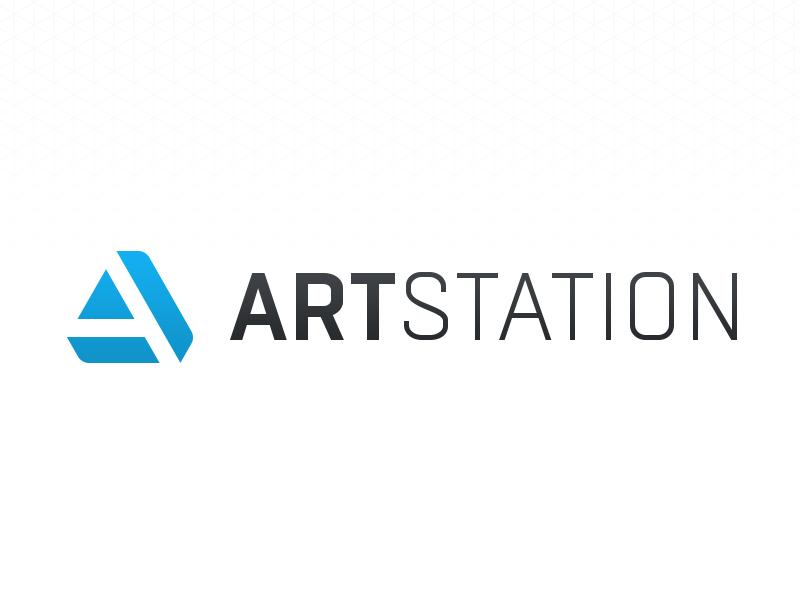 ArtStation brand identity logo artists community artstation cg conceptart