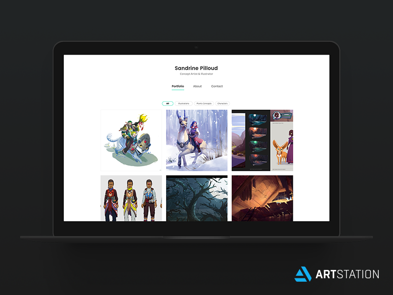 Artstation Pro - Insta Theme insta builder website theme